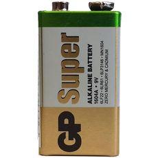 Батарейка GP 1604А-S1 Super alkaline 6LF22 (крона, 9V), фото 1