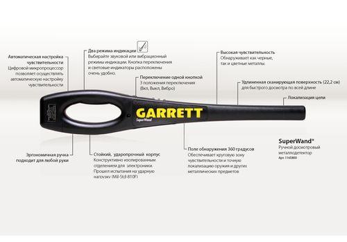 Ручной металлодетектор Garrett SuperWand (replica), фото 9